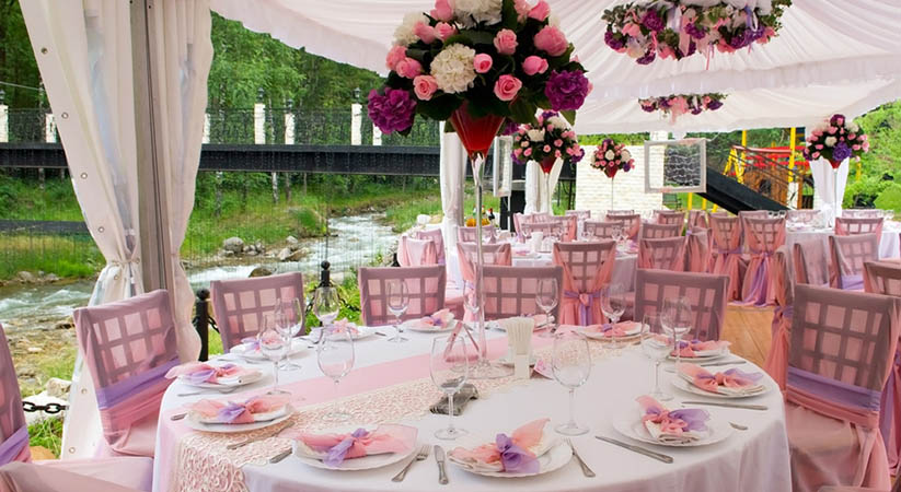 Importance of tables and chairs in a wedding reception?